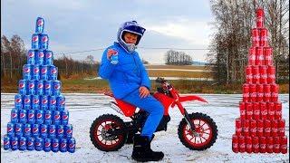 Funny Video For Children Baby Ride on Dirt Cross Bike Power Wheel Pocket Bike Magic Coca Cola