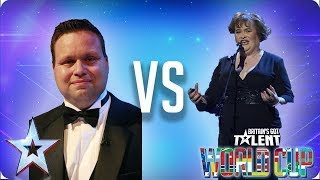 Paul Potts vs Susan Boyle   Britain