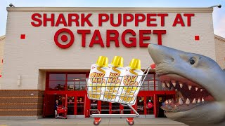 SHARK PUPPET GOES TO TARGET!!!!!