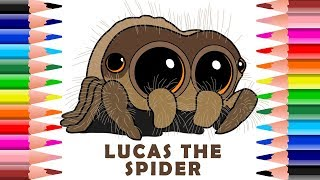 ✍ How To Draw And Colour Lucas The Cutest Spider