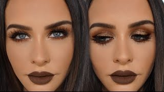 BROWN & COPPER Glitter Smokey Eye | Carli Bybel