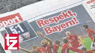 FC Bayern überrollt Arsenal London - Pressestimmen zum Spiel