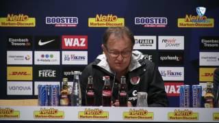 Die Pressekonferenz nach der Partie VfL Bochum1848 - FC St. Pauli