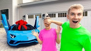 SURPRISING My Sister Grace Sharer With Her Dream Car!! (BRAND NEW LAMBORGHINI)