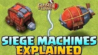 NEW SIEGE MACHINES EXPLAINED - Clash of Clans Update - How to use Siege Machine - CoC Town Hall 12!