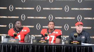 Post-Game Interview - Georgia falls short in National Championship Game 26 - 23