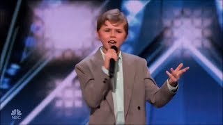 Rapper 13-Year-Old Shocks Judges With His Original Song On America's Got Talent