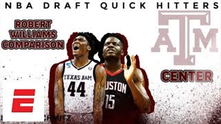 Robert Williams 2018 NBA draft comparison: Clint Capela | DraftExpress | ESPN