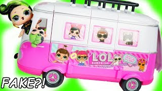 LOL Morning Routine Surprise with Custom DIY FAKE vs Real Dolls Bus