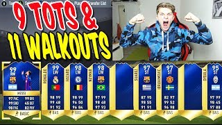 9 TOTS + 11 WALKOUTS 🔥⛔️ IN JEDEM PACK 1 TOTS/WALKOUT - FIFA 17 PACK OPENING ULTIMATE TEAM (DEUTSCH)