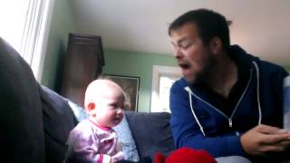 Margot loves Brown Bear, Brown Bear. Baby laughing