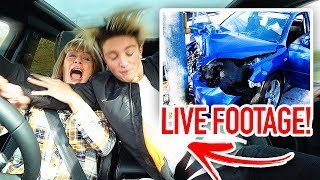 MORGZ CRASHED MY NEW CAR!! (Live Footage)