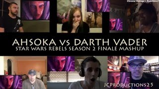 Ahsoka vs Darth Vader Reaction MASHUP!!!
