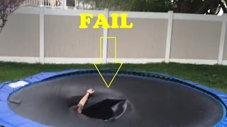 Trampoline Jump Fails Compilation 2015 [NEW]