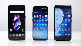 OnePlus 5 vs. Samsung Galaxy S8 vs. HTC U11: Benchmark | SwagTab
