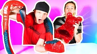 WORLD BIGGEST GUMMY CANDY! (70,000+ CALORIES)