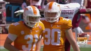 Tennessee vs UMass NCAA Football Highlights 2017