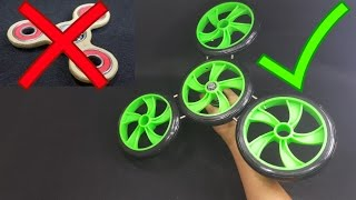 DIY MASSIVE Fidget Spinner Toy Using Ab Roller Wheel very Crazy
