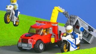 LEGO POLIZEI FILM deutsch: POLIZEIAUTO & ABSCHLEPPWAGEN | LEGO CITY Streifenwagen Unboxing