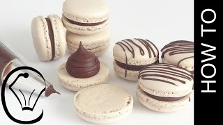 Foolproof Easy Mocha French Macarons With Chocolate Ganache by Cupcake Savvy