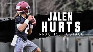 Watch Alabama freshman QB Jalen Hurts in practice