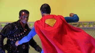 Superman VS Terminator Stop Motion ( Fan Film ) ( Hot Toys ) *HD*