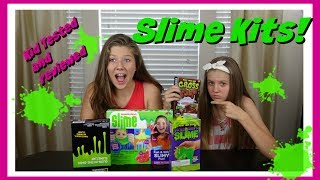 SLIME KITS: KID TESTED AND REVIEWED || Taylor & Vanessa