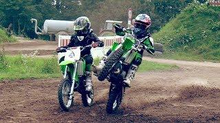 Kinder Motocross - die Grünen sind da