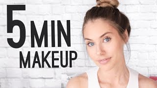 QUICK & EASY 5 MINUTE MAKEUP TUTORIAL!
