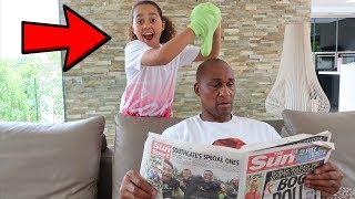 STICKY SLIME PRANK ON MY DAD!!