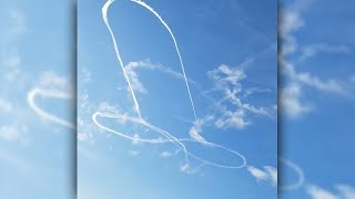 US-Kampfjet-Pilot zeichnet Penis an den Himmel