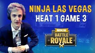 Ninja Las Vegas Heat 1 Game 3 - Fortnite Battle Royale Gameplay