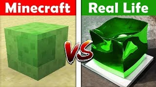 MINECRAFT SLIME IN REAL LIFE! Minecraft vs Real Life animation