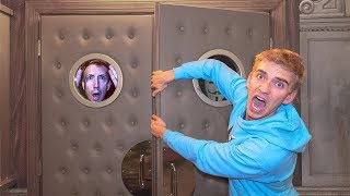 GAME MASTER 24 HOUR OVERNIGHT ESCAPE ROOM CHALLENGE in SECRET HIDEOUT! (Chad Wild Clay goes Missing)