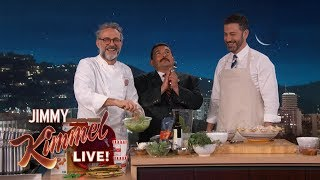Chef Massimo Bottura Cooks Meal with Food from Kimmel Writers