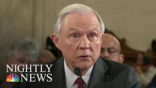 Attorney General Nominee Faces Questions On Racism, Civil Rights, Sexual Assault   NBC Nightly News