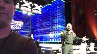 Police Officer Sings God Bless America - AGT Backstage