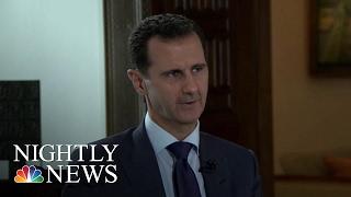 Syrian President Bashar Al-Assad Defends Record In Country's Civil War | NBC Nightly News