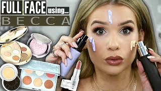FULL FACE Using ONLY BECCA COSMETICS! Worth it OR Toss it?!