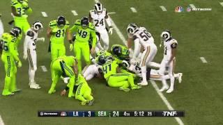 Jon Ryan Injured After 33-yard Fake Punt Run | Rams vs. Seahawks | NFL Week 15 Highlights