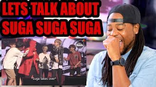 BTS MEMBERS ARE LOWKEY TERRIFIED OF SUGA!!! REACTION