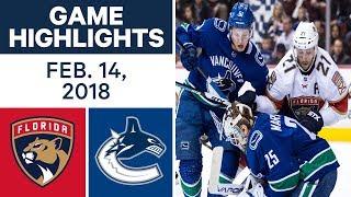 NHL Game Highlights | Panthers vs. Canucks - Feb. 14, - 2018