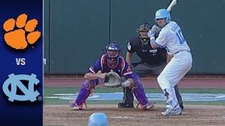 Clemson vs. North Carolina ACC Baseball Highlights (April 29, 2017)