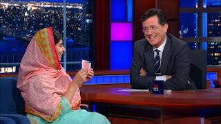 Malala Yousafzai & Stephen Do Card Tricks