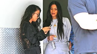 Kim And Kourtney Kardashian Kill Time Snapchatting The Paparazzi After Filming KUWTK