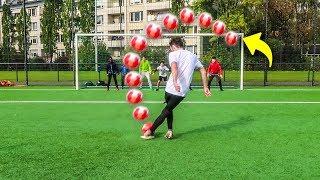 VERRÜCKTE ELFMETER TRICKSHOTS FUßBALL CHALLENGE!!