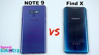 Samsung Galaxy Note 9 vs Oppo Find X SpeedTest and Camera Comparison