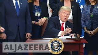 Trump signs order for Mexico border wall
