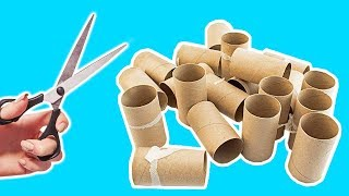 4 Ways To Recycle Empty Toilet Paper Roll   Best Out of Waste