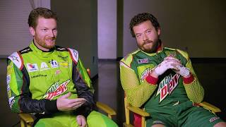 ESPN Anchor Kenny Mayne interviews Dewey Ryder and Dale Earnhardt Jr. | Mountain Dew